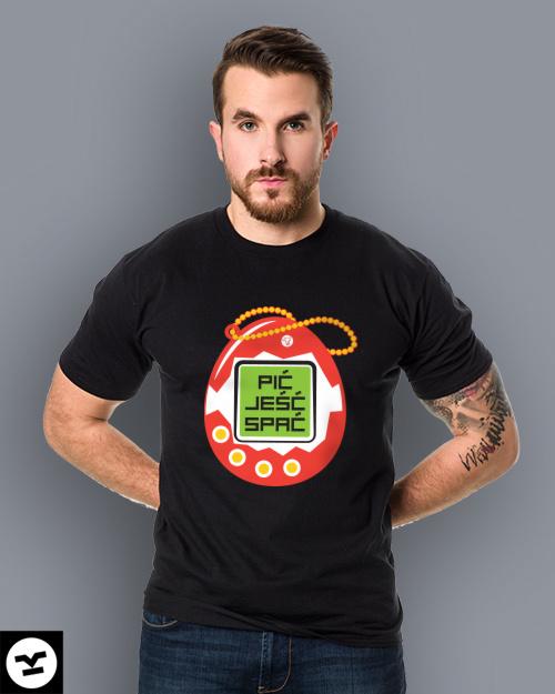 Śmieszna koszulka Tamagoczi